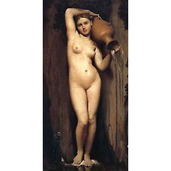 The Source, Jean Auguste Dominique Ingres, 80x40cm