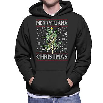 Merry Juana Christmas Men's Hooded Sweatshirt