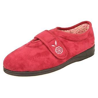 Ladies Padders Microsuede Cerise Slippers Style - Camilla Size 4 UK