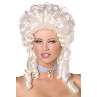 Long White Curly Wig, Fever Boutique Baroque Wig, Fancy Dress Accessory.