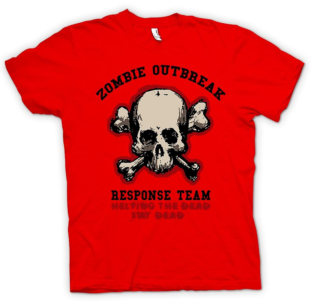 Mens t-shirt - Zombie Outbreak risposta - Funny