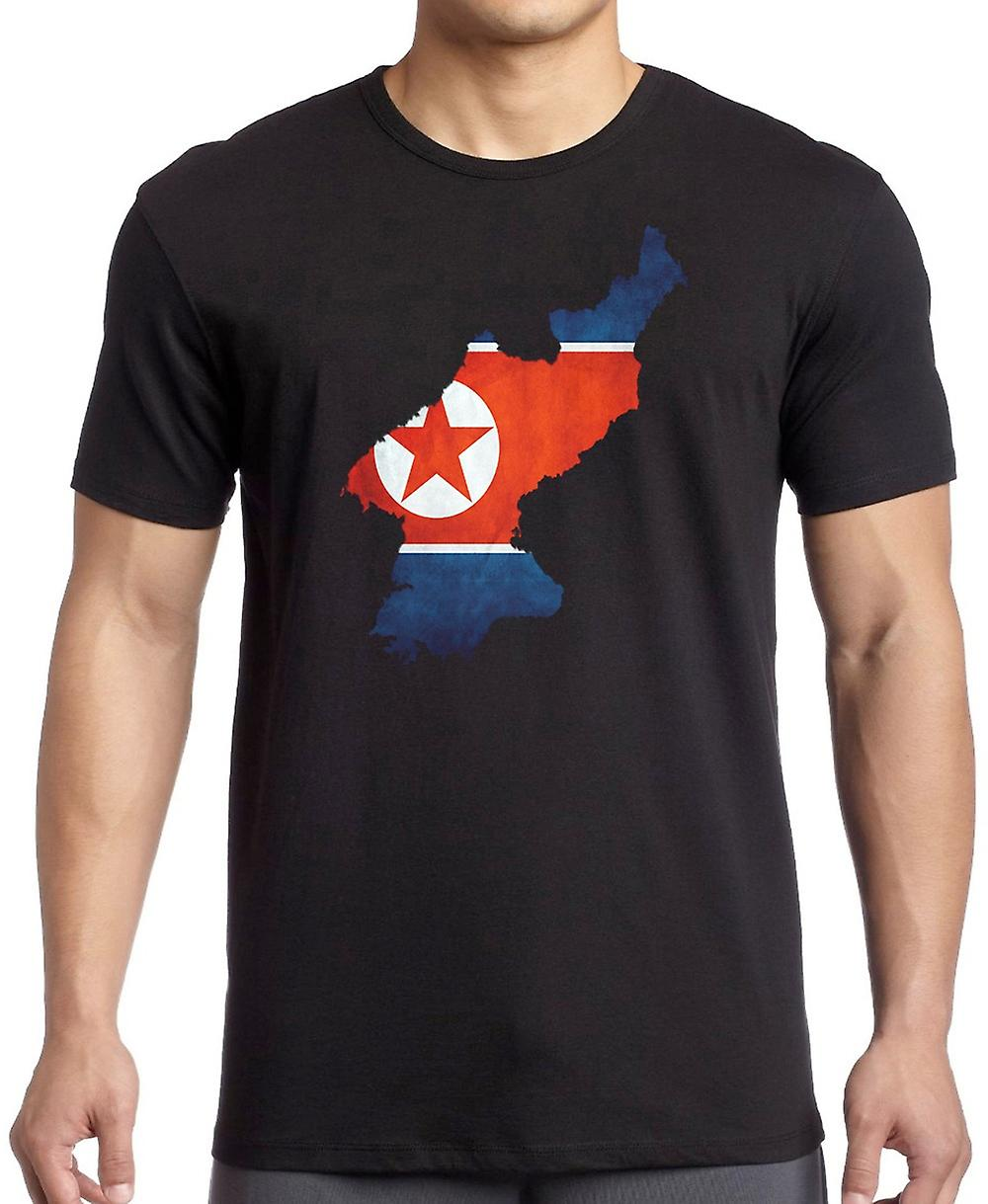 North Korea Flag Map Kids T Shirt