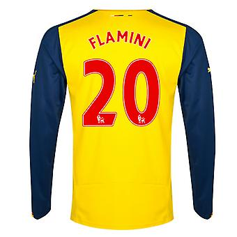 2014-15 Arsenal Long Sleeve Away Shirt (Flamini 20)