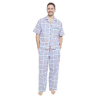 Cyberjammies 6345 mænds Oscar blå Plaid pyjamas bukser