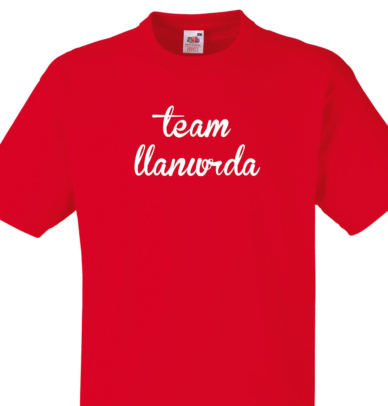 Team Llanwrda Red T shirt