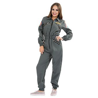 Womens Sci-Fi Space Craft Pilot Astronaut Scientist Halloween Film Fancy Dress
