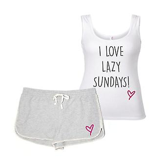 I Love Lazy Sundays Pyjama Set