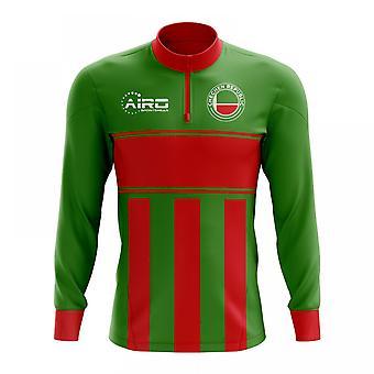 Czeczeńską Republiką koncepcja piłki nożnej Half Zip Top Midlayer (zielony czerwony)