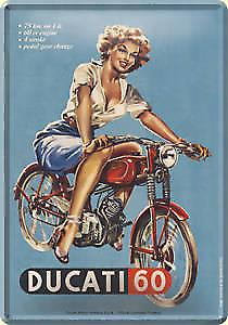 Ducati 60 metal postcard / mini-sign   (na)