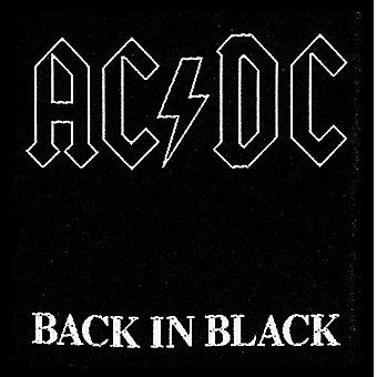 AC/DC Back In Black sew-on cloth patch  (ro)