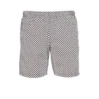 Alexander Mcqueen White/black Polyester Trunks