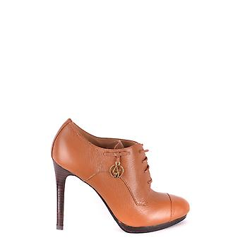 Armani Jeans Brown Leather Ankle Boots