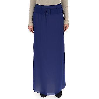 Prada Blue Silk Skirt