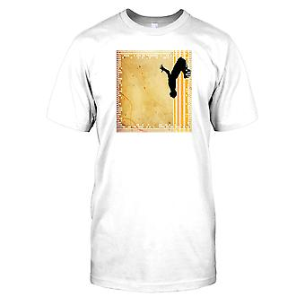 Parkour Flip - Yellow Stripes Kids T Shirt