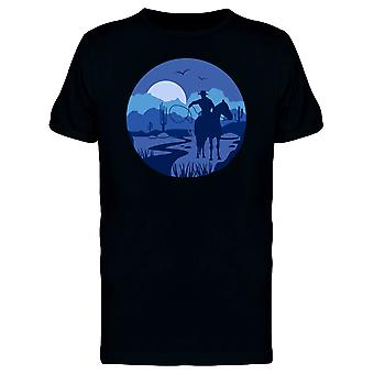 Blue Landscape With A Cowboy Tee Men's -Image by Shutterstock