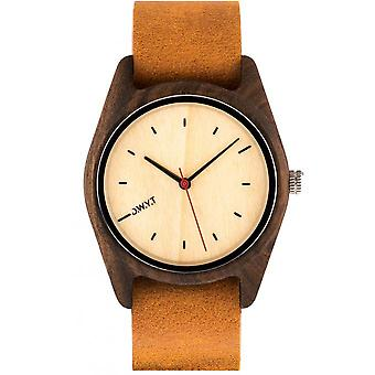 Watch D.W.Y.T DW-00105-5008 - Sequoia Wood Leather Brown man