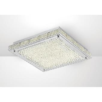 Amelia Ceiling 21w 2100lm Led 4000k Stainless Steel/crystal