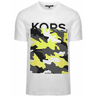 Michael Kors Michael kors hvit camouflage logo T-skjorte