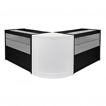 Emperor C1200 C1200 CM60 Black and White Retail Shop Counters