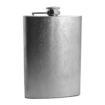 8oz floral flask router engraved