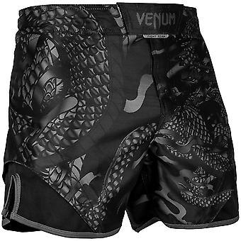 Venum Dragon's Flight MMA Fight Shorts - Black/Black
