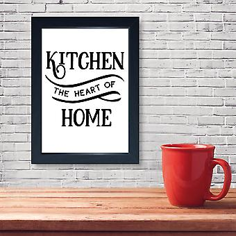 Heart Of Home, Quality Framed Print - Home Kitchen Dining Cafe Restaurant GBBO