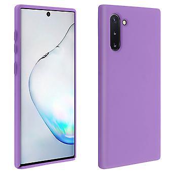 Samsung Galaxy Note 10 Silicone Semi-rigid Case Soft Touch Matte Finish - Purple