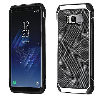 ASMYNA Black Dots(Silver Plating)/Black Astronoot Protector Cover for Galaxy S8 Plus