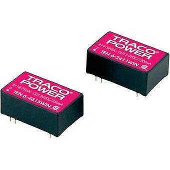 DC/DC converter (car) TracoPower 24 Vdc 15 Vdc 400 mA 6 W No. of outputs: 1 x