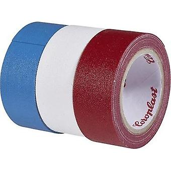 Cloth tape Coroplast Blue, Red, White (L x W) 2.5 m x 19 mm Natural rubber Content: 3 Rolls