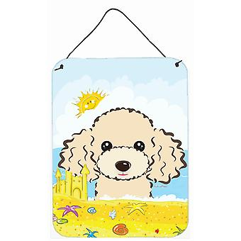 Buff Poodle Summer Beach Wall or Door Hanging Prints BB2126DS1216