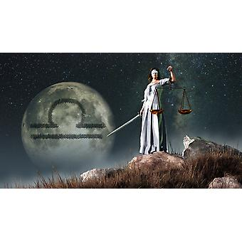 Libra is the seventh astrological sign of the Zodiac Its symbol is the scales Poster Print