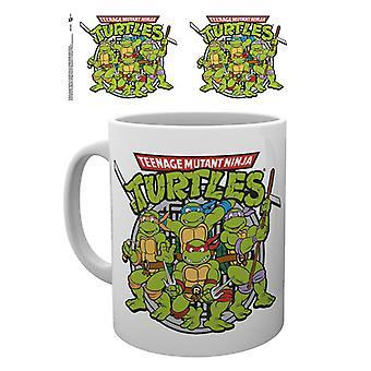 Teenage Mutant Ninja tortugas Retro taza