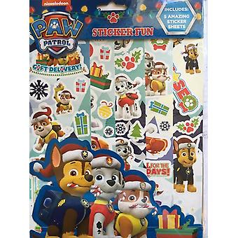 Paw Patrol Christmas Reusable Sticker 5 Sheets
