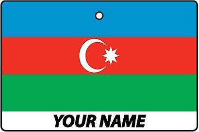 Azerbaijan Flag Personalised Car Air Freshener