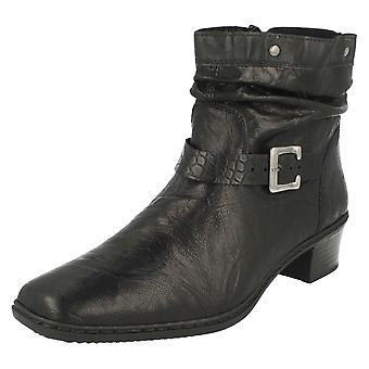 Ladies Rieker Warmlined Textured Ankle Boots 74573