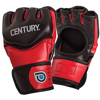 Century Drive Thumbless Open Palm MMA Fight Gloves - Red/Black