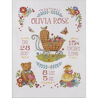 Sweet Baby Birth Record Counted Cross Stitch Kit-10.5
