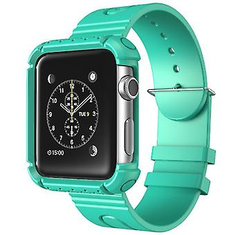 Apple Watch Case, i-Blason Rugged Protective Case with Strap Bands for Apple Watch / Watch Sport-42 mm, Green