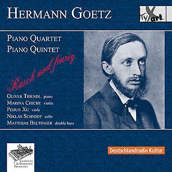 Goetz / Deluxe / Chiche / Schmidt / Xu / Beltinge - klaver kvartetten & Piano Quintet [CD] USA import
