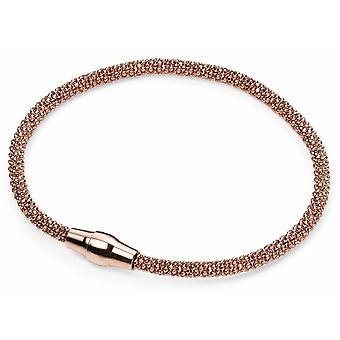 925 Srebrna bransoletka pozłacana różowe złoto