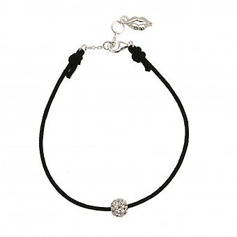 W.A.T Black Cord And Glitterball Friendship Bracelet
