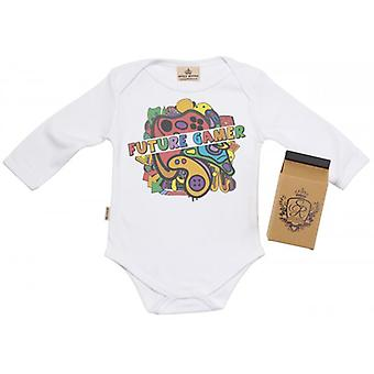 Spoilt Rotten Future Gamer Baby Grow 100% Organic In Milk Carton