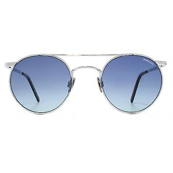 Randolph Engineering P3 Shadow Sunglasses In Bright Chrome Blue Gradient