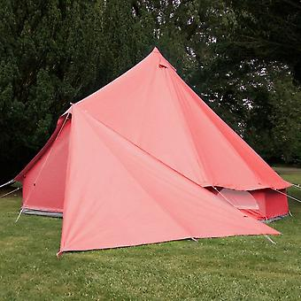 Boutique Camping Bell Tent Triangle Tarp - Coral Red