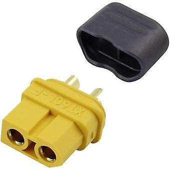 Battery receptacle XT60L Gold-plated 1 pc(s) Reely