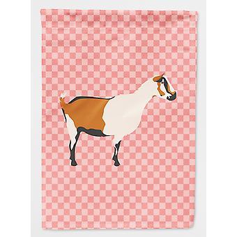 Carolines Schätze BB7880CHF Alpine Ziege rosa Check Flagge Haus Leinwandgröße