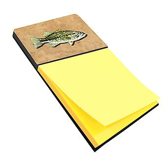 Small Mouth Bass Refiillable Sticky Note Holder or Postit Note Dispenser