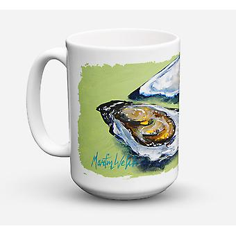 Oysters Two Shells Dishwasher Safe Microwavable Ceramic Coffee Mug 15 ounce