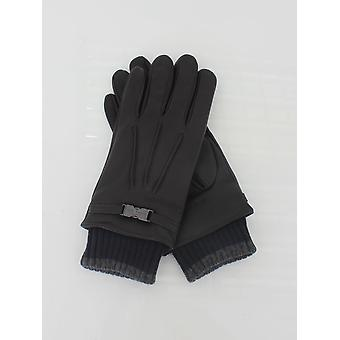 Ted Baker Quiff Cuff Leather Glove - Chocolate